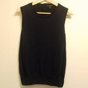 J Crew Sweater Vest Dark Blue Large